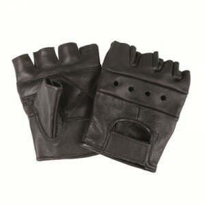 Перчатки без пальцев BIKER FINGERLINGE LEDER Mil-Tec