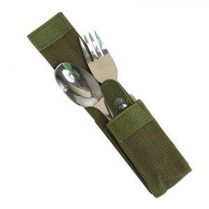 Набор ложка вилка нож в чехле Mil-Tec